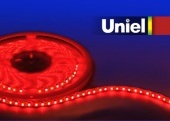 Uniel ULS-3528-120LED/m-8mm-IP20-DC12V-9,6W/m-5M-RED