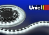 Uniel ULS-Q321 2835-60LED/m-8mm-IP20-DC12V-4,8W/m-3M-DW