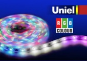 Uniel ULS-5050-60LED/m-10mm-IP65-DC12V-14,4W/m-5M-RGB
