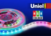 Uniel ULS-5050-60LED/m-10mm-IP33-DC12V-14,4W/m-5M-RGB