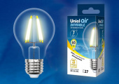 Uniel LED-A60-7W/WW/E27/CL/DIM GLA01TR