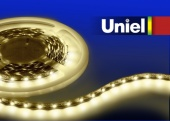 Uniel ULS-3528-60LED/m-8mm-IP20-DC12V-4,8W/m-3M-WW