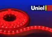 Uniel ULS-3528-60LED/m-8mm-IP65-DC12V-4,8W/m-5M-RED