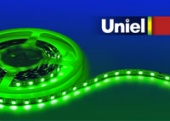 Uniel ULS-3528-60LED/m-8mm-IP20-DC12V-4,8W/m-5M-GREEN