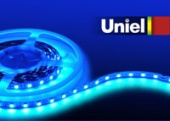 Uniel ULS-5050-60LED/m-10mm-IP20-DC12V-14,4W/m-5M-BLUE